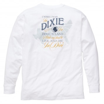 Dixie Tee: White Long Sleeve